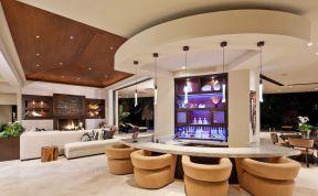 隔斷吧臺 別墅家庭酒吧設計