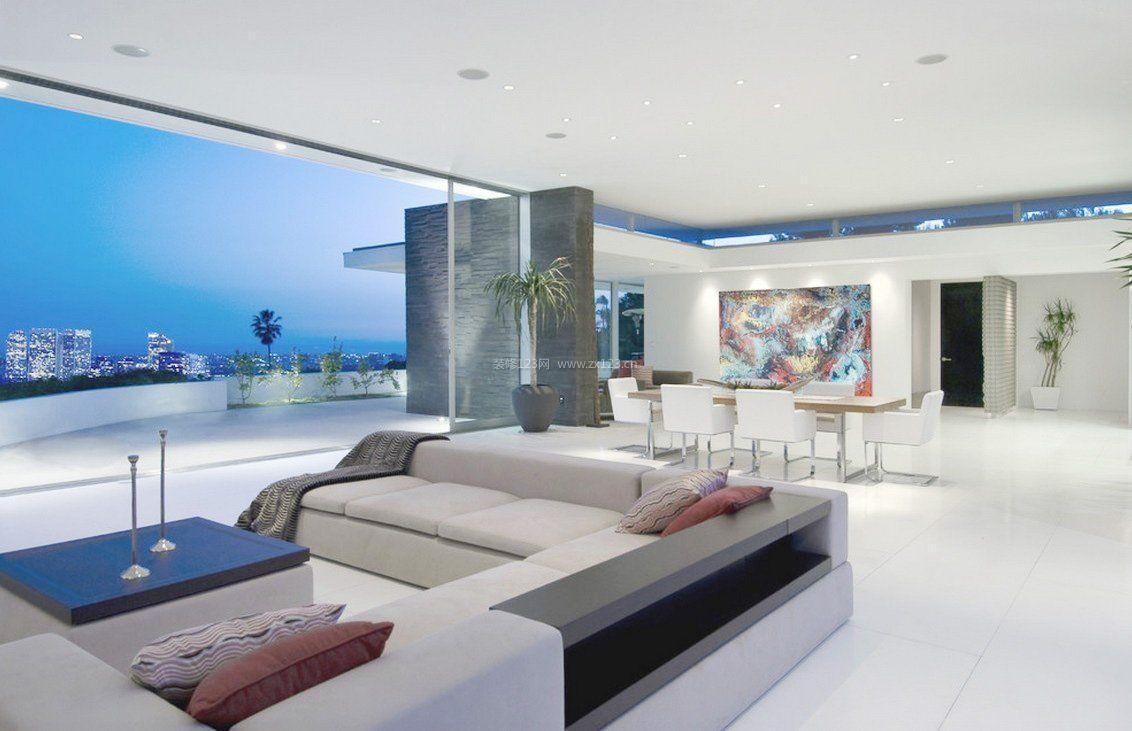 现代客厅简约室内家装设计效果图