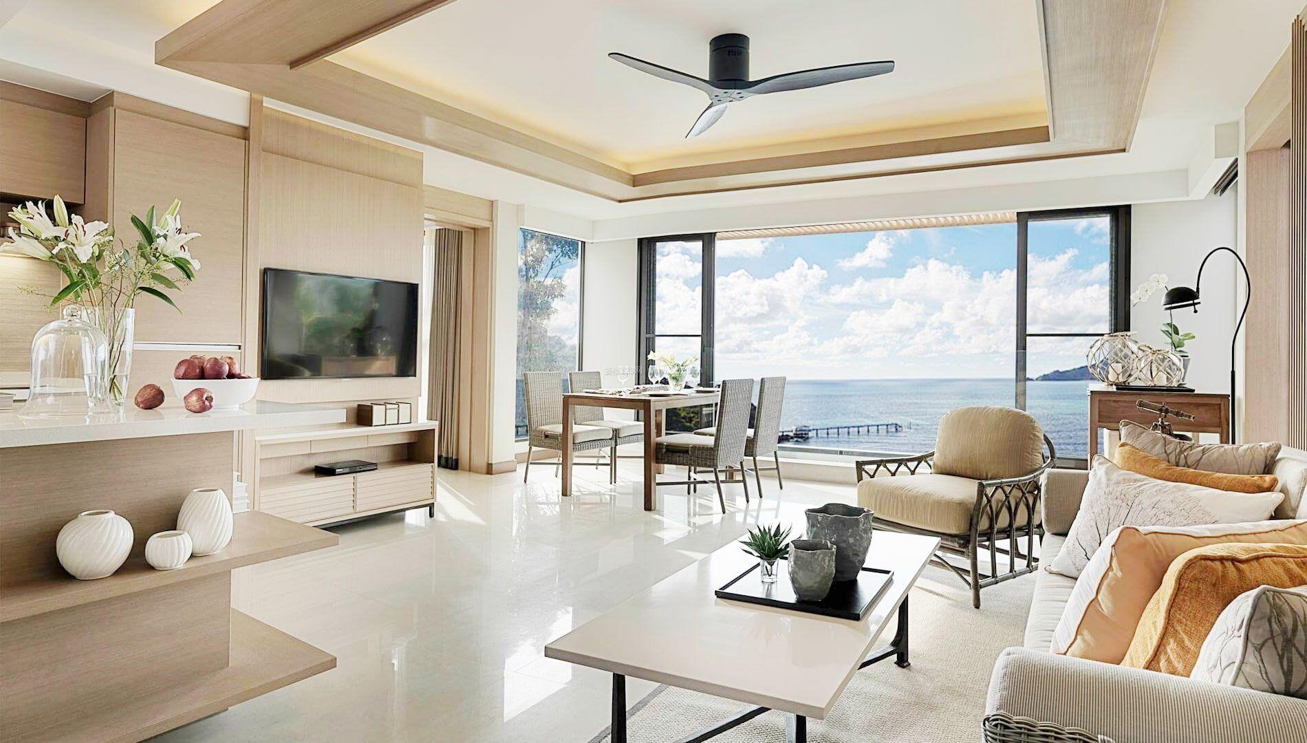 现代客厅简约装修140平房子效果图欣赏