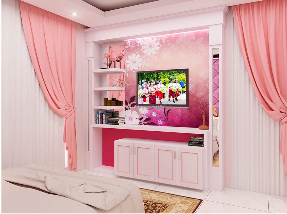 新房卧室电视墙设计装修效果图大全
