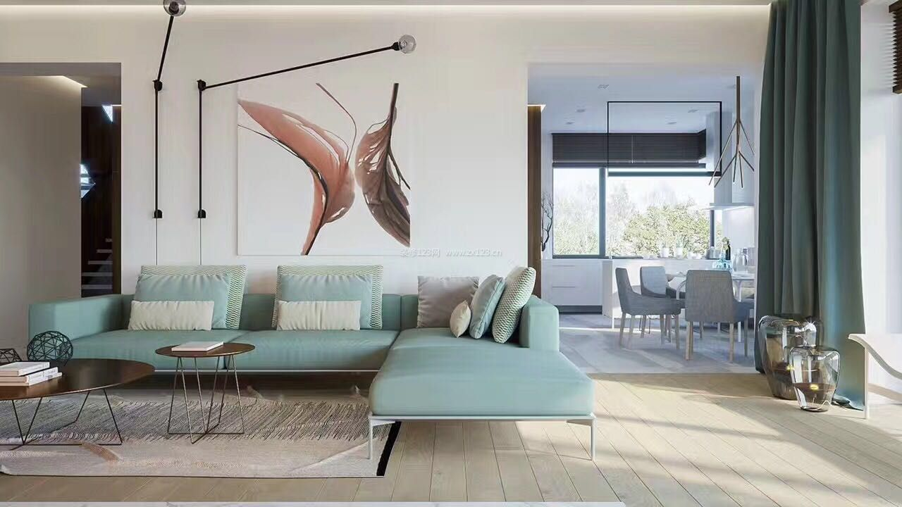 家装效果图 北欧 北欧简约风格沙发背景墙装修效果图欣赏 提供者图片