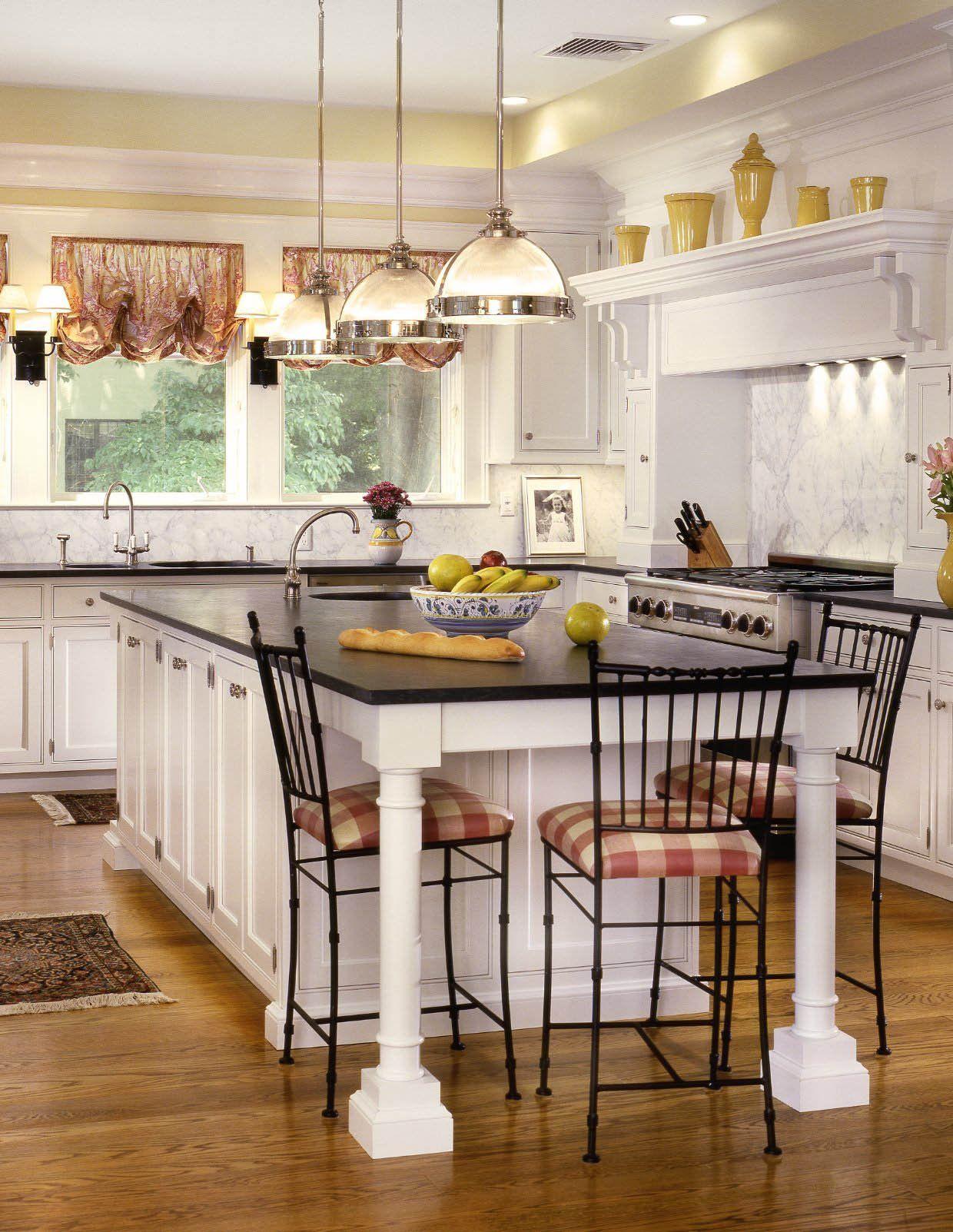 欧式开放式厨房西式快餐桌效果图_装修123效果图图片