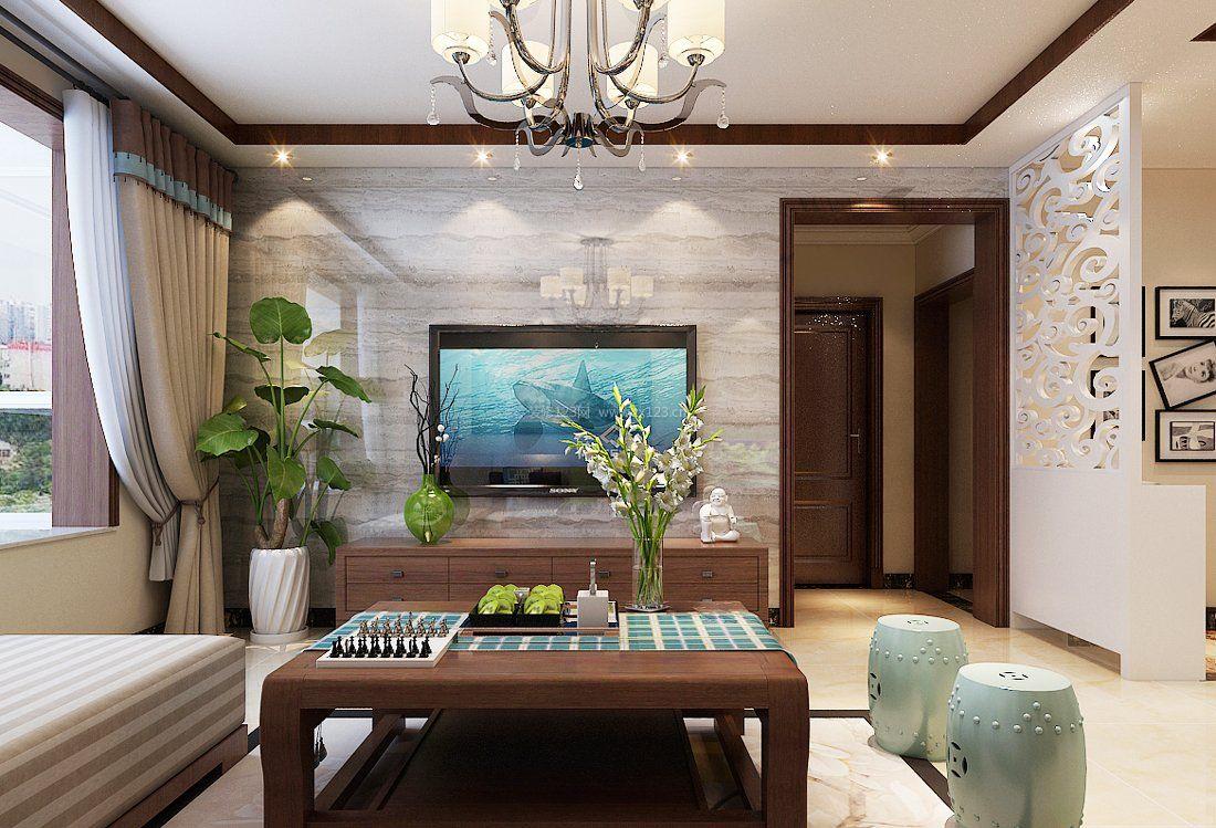 客厅瓷砖电视背景墙装修图