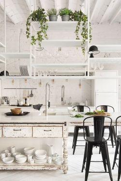 北欧风格开放式厨房设计_装修123效果图图片