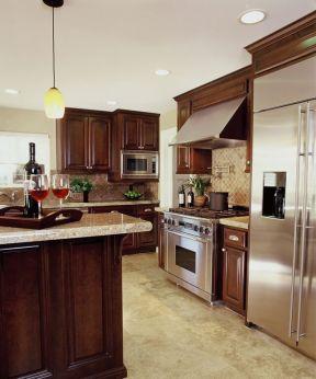 欧式开放式厨房 现代欧式混搭风格