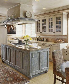 2017欧式厨房不锈钢橱柜装修-装修123网效果图大全图片