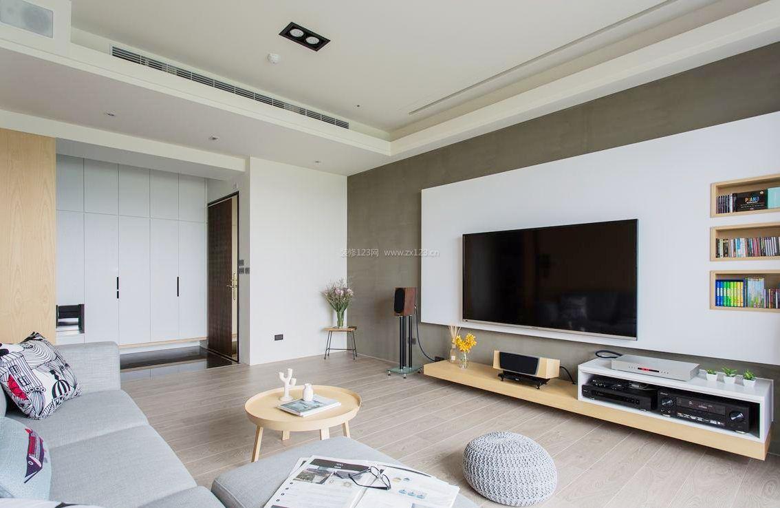 小户型新房客厅电视墙设计图片