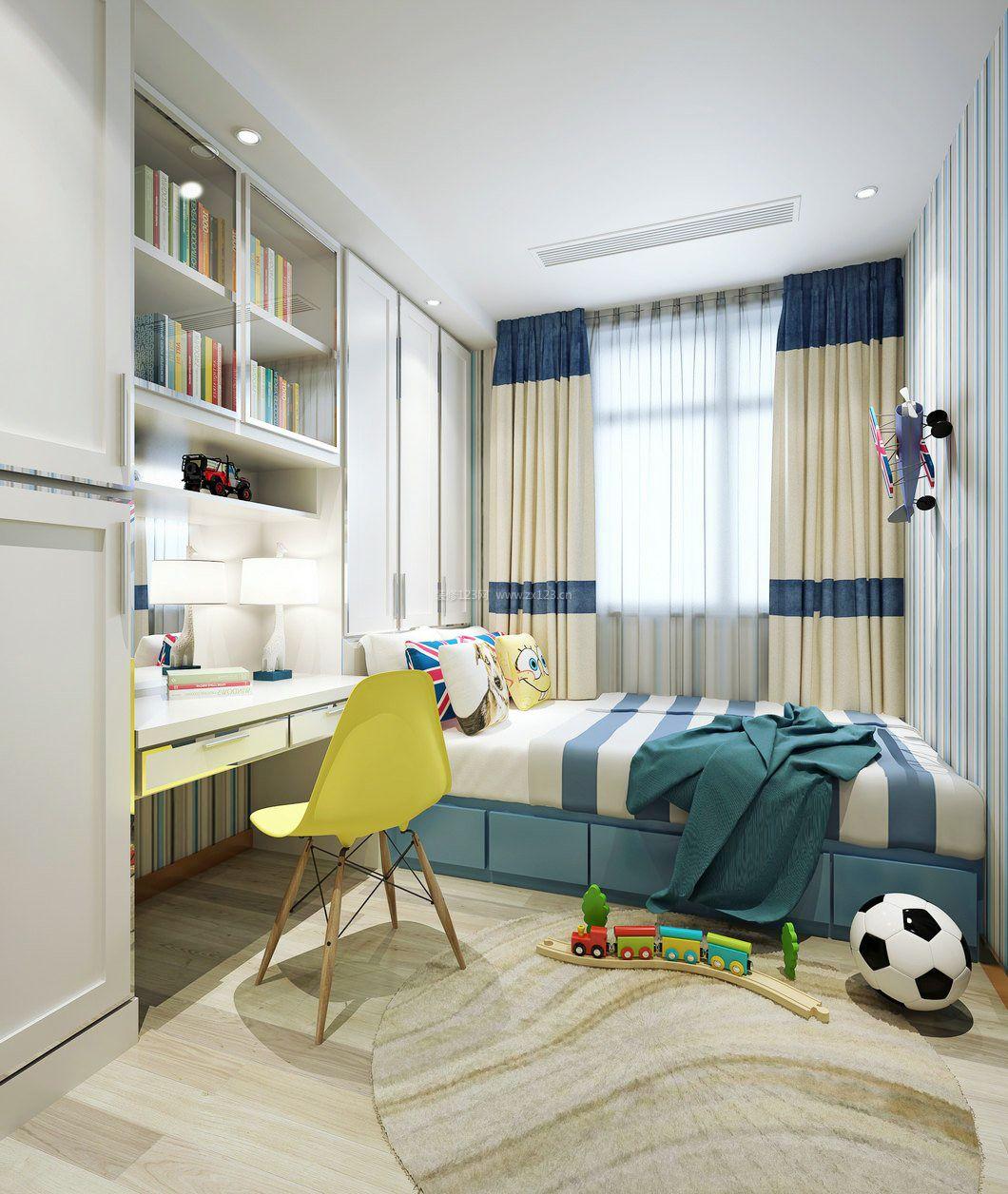 小卧室儿童房阳台榻榻米床装修效果图