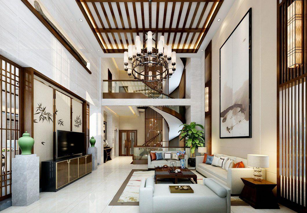 中式复式天花板装修效果图