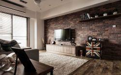 小戶型新房客廳墻磚背景墻設計圖片