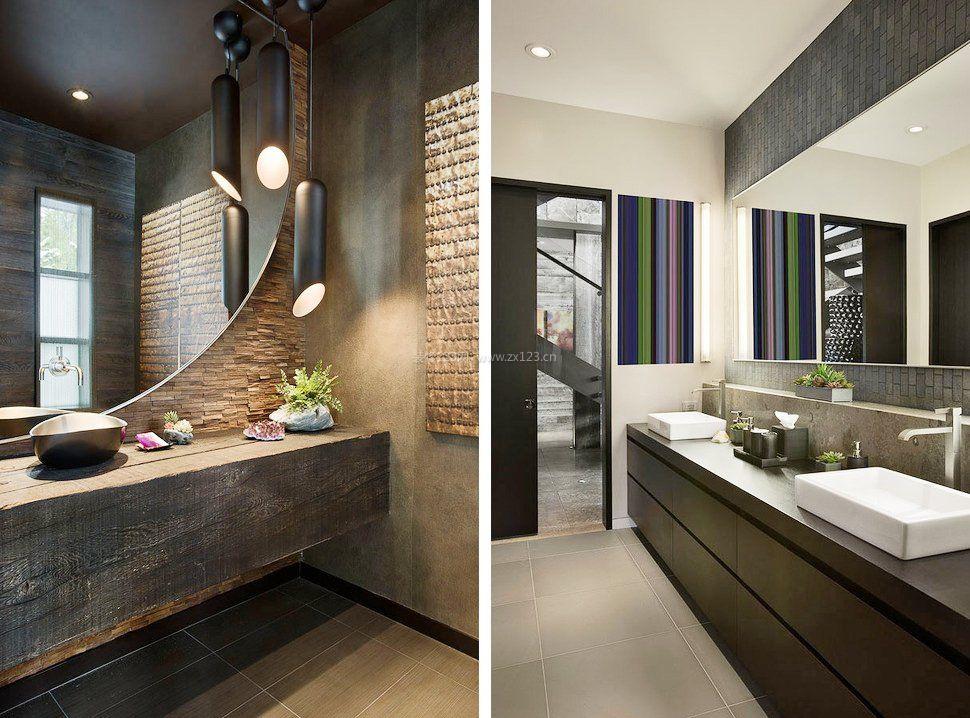 2017房屋卫生间室内装饰设计效果图_装修123效果图