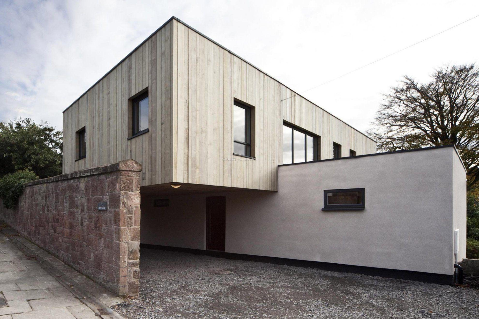 现代风格别墅外观设计-超现代简约别墅外观,农村15万元二层小楼图图片