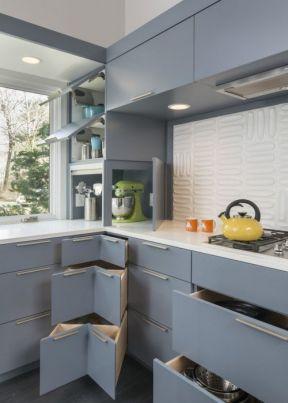 2017厨房不锈钢台面橱柜设计