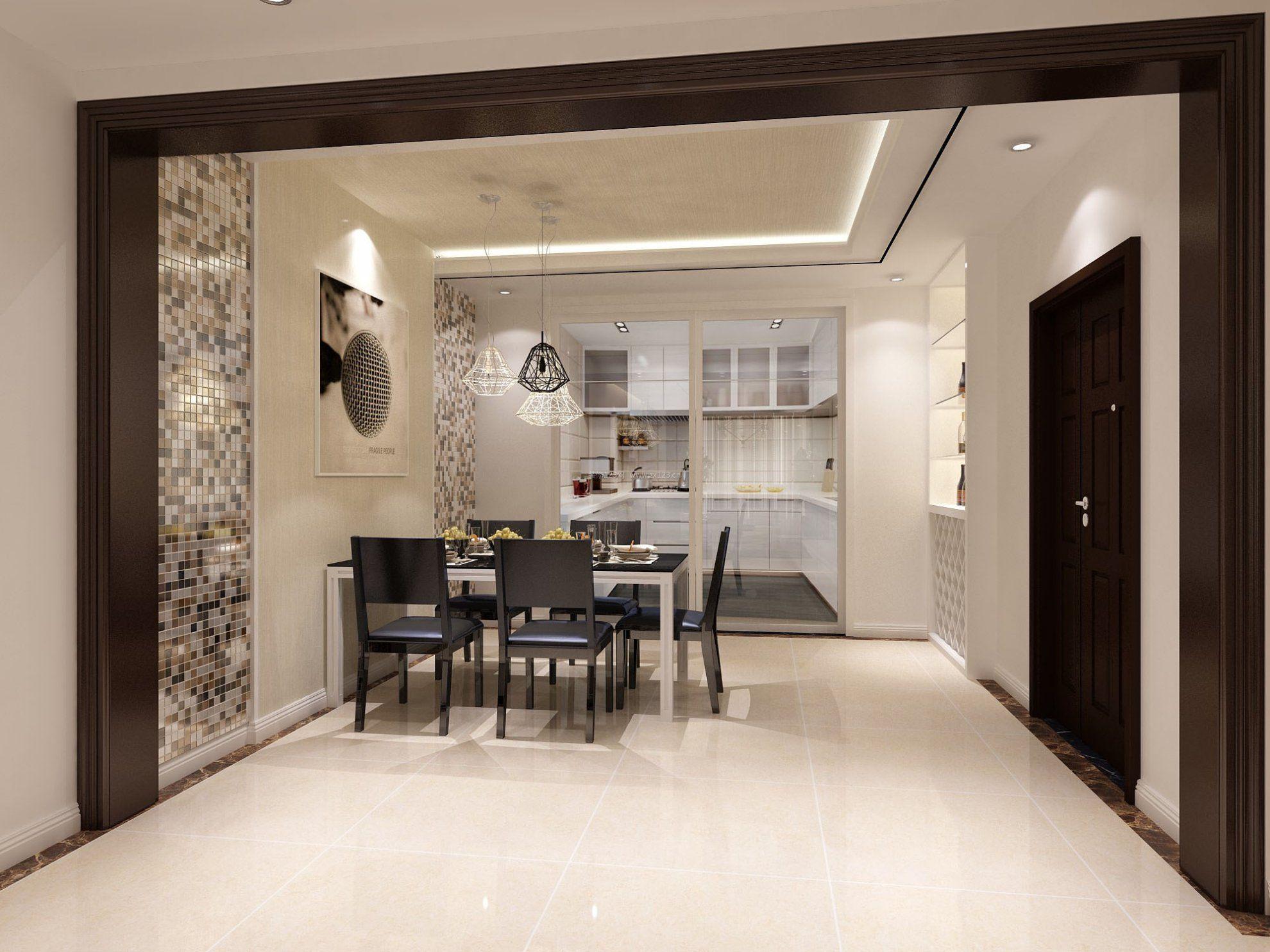家装效果图 现代 现代简约风格餐厅样板设计 提供者: ←→ 可以