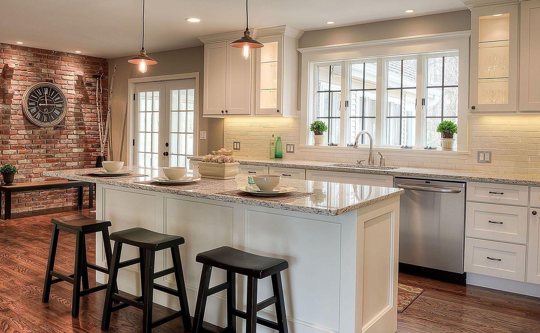 家装半开放式厨房装修效果图片