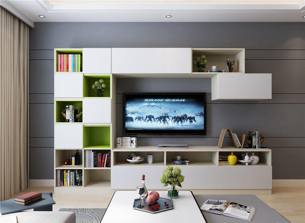 现代简约风格家庭电视柜装修样板图片