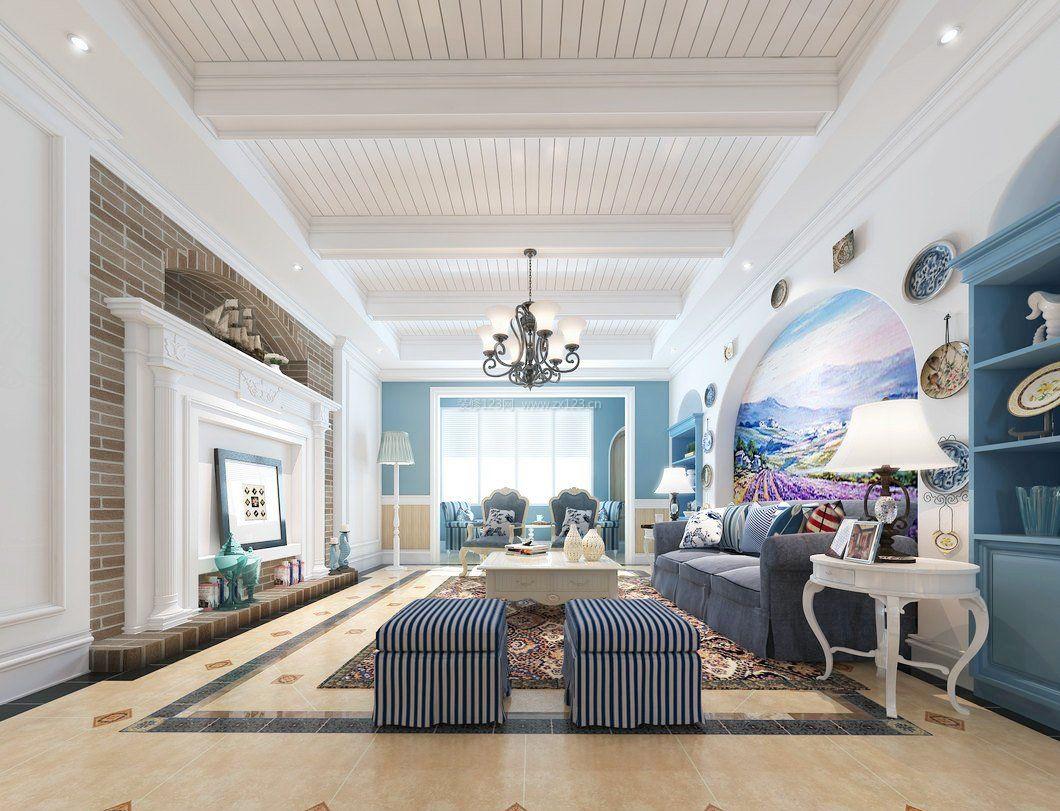 客厅欧式吊顶装修效果图大全2017