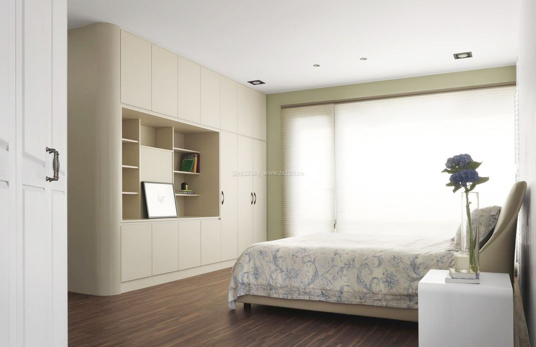 现代简约卧室柜子装修效果图片大全