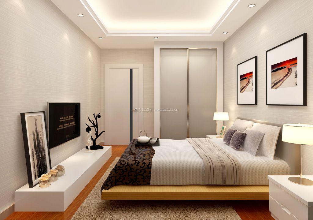 现代简约卧室吊顶设计装修效果图片