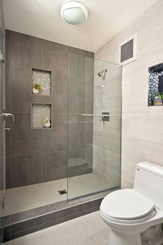 卫生间灰色背景墙瓷砖贴图