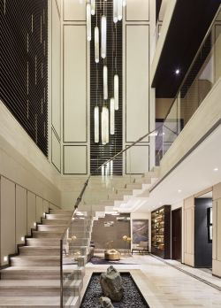 二层别墅室内楼梯设计图_装修123效果图