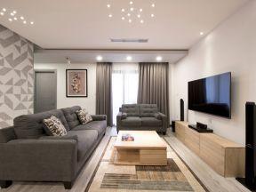 现代简约客厅风格 木箱茶几装修效果图片