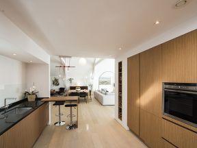 150平米房屋装修效果图 开放式厨房吧台设计