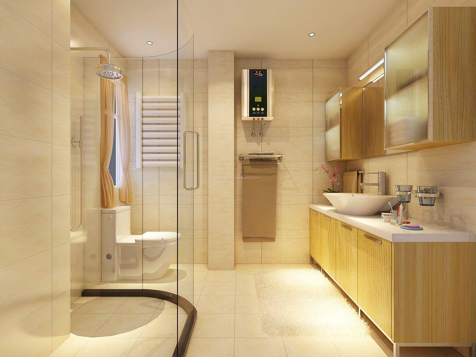 小户型卫浴室内浴室柜设计_装修123效果图图片
