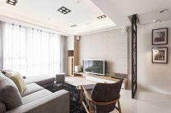85平米小户型无阳台客厅装修效果图大全图片