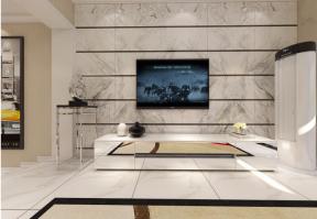 现代简约主义风格 瓷砖电视背景墙装修效果图片