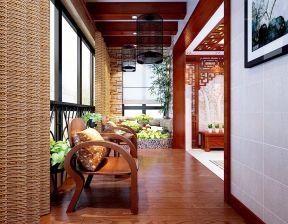 客厅阳台装修图片 新中式客厅装修效果图大全