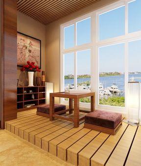 客厅阳台榻榻米装修图片-装修123网效果图大全