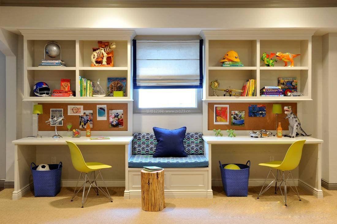 儿童房间书桌设计装修效果图大全2017图片