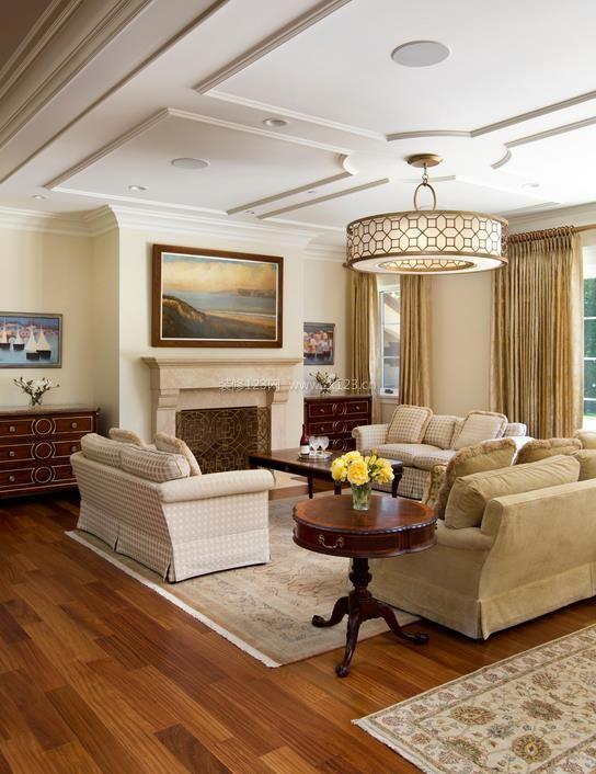 房屋客厅天花板装修效果图