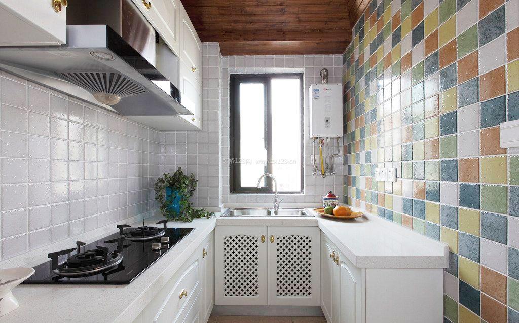 地中海风格小厨房装修效果图大全2017图片
