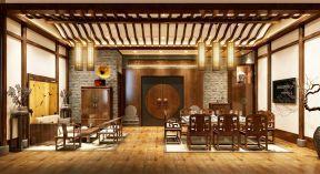 会所餐厅设计 新中式风格餐厅装修效果图