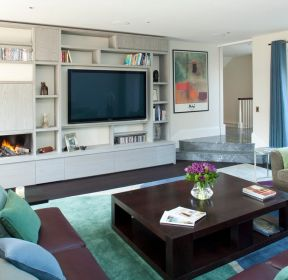 2017北欧风格客厅电视背景墙效果图 -每日推荐
