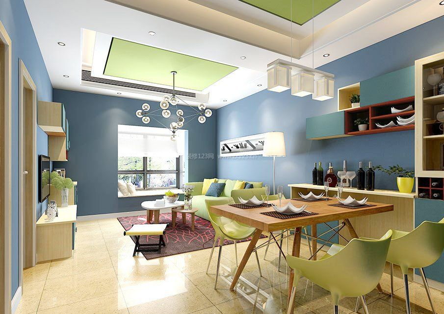 客厅装修墙面颜色搭配-客厅墙面设计效果图_客厅和_..