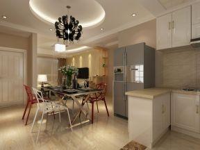 家装现代简约风格效果图 圆形吊顶装修效果图片