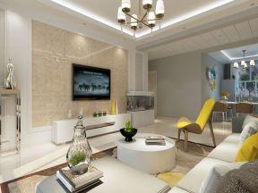 2017欧式客厅瓷砖电视背景墙-装修123网效果图大全