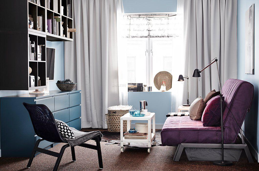 小户型客厅窗帘装修效果图大全2017图片