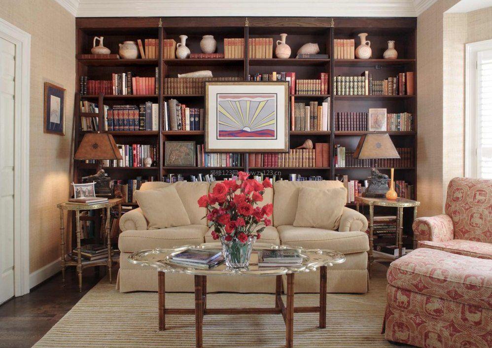 家装效果图 客厅 小户型客厅整体书柜装修效果图大全2017图片 提供者