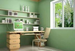 彩色書房 綠色墻面裝修效果圖片