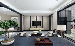 新中式风格客厅装修效果图 简约电视墙