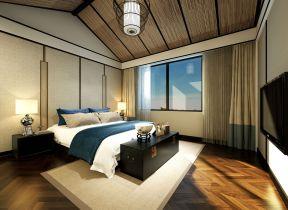 新中式风格别墅装修效果图 阁楼卧室装修效果图