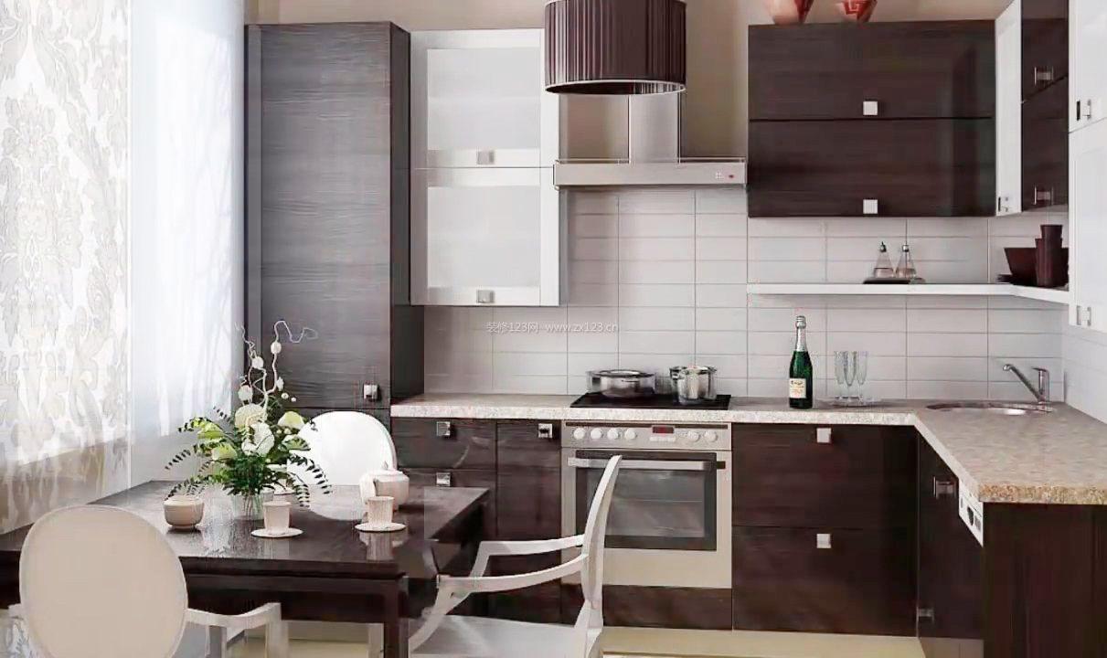 家庭厨房橱柜装修效果图大全2017图片图片