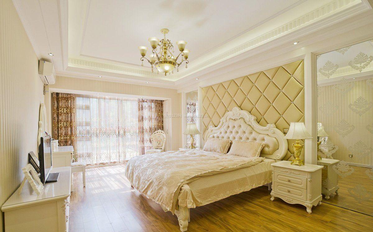 欧式田园风格窗帘卧室设计效果图
