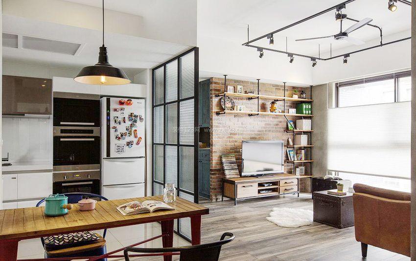60平米小户型客厅厨房隔断装修效果图