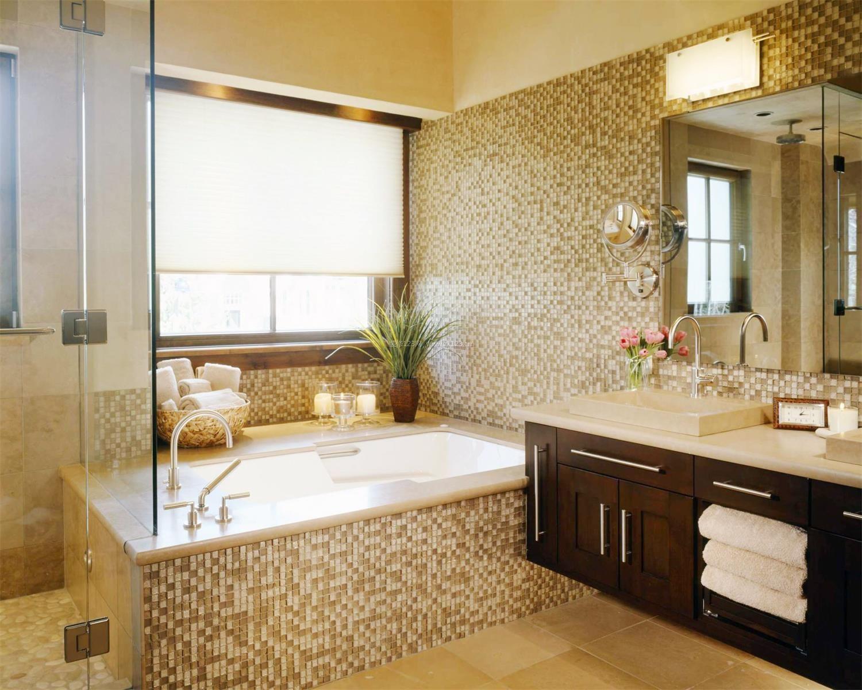 卫生间洗衣机洗脸台装修设计图纸展示