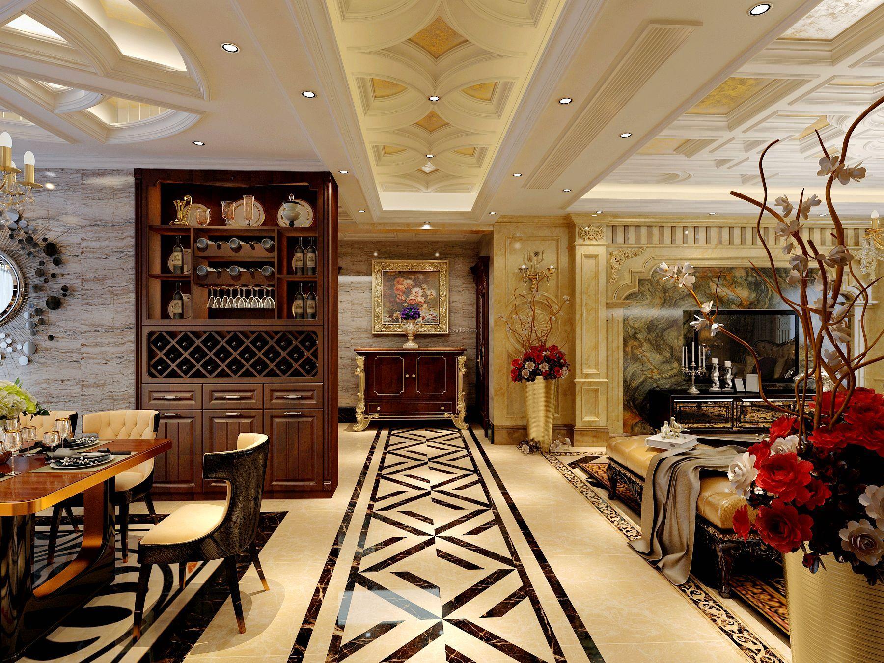 豪华欧式风格三室两厅装修效果图片